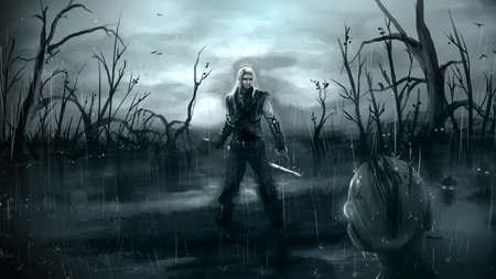 Постер на подрамнике the witcher, cd projekt red, sapkowski