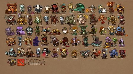 Плакат mini heroes, dota 2, art