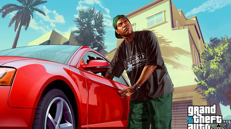 Плакат lamar davis, grand theft auto v, gta