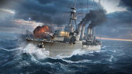 Постер на подрамнике world of warships, wargaming net, ship