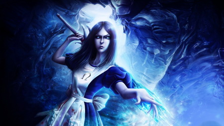 Постер на подрамнике alice madness returns, wand, crystal