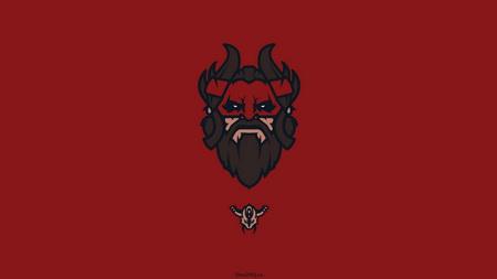 Плакат beastmaster, dota 2, art