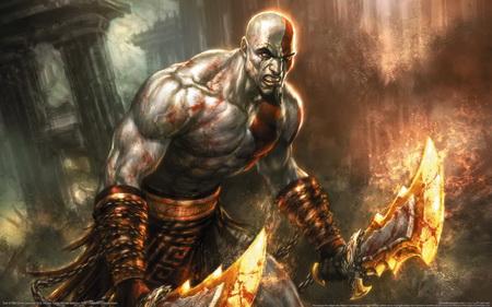 Постер на подрамнике God Of War