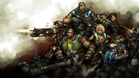 Постер на подрамнике Gears Of War 3