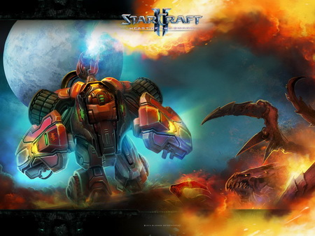 Постер на подрамнике StarCraft II: Heart Of The Swarm