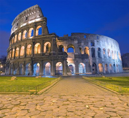 Постер (плакат) Колизей в Риме. Италия.