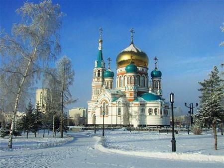 Постер на подрамнике Зимний Омск