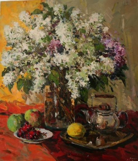 Постер на подрамнике Цветы на столе