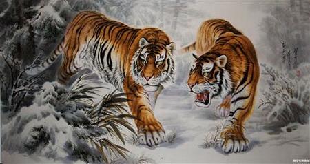 Постер (плакат) тигр