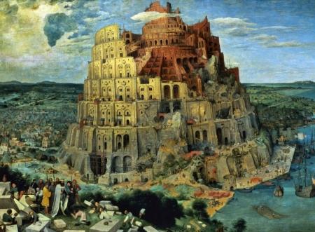Плакат Вавилонская башня, Брейгель