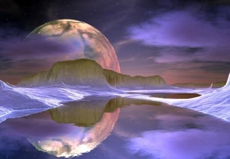 Плакат Неизвестная планета
