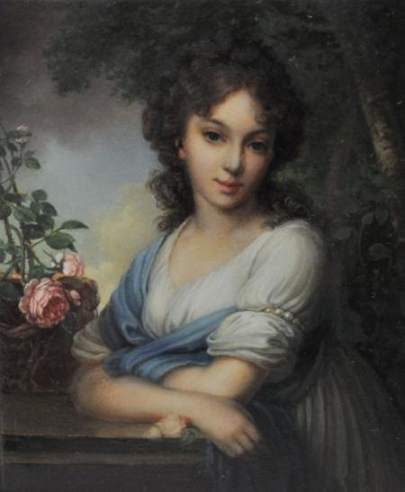 Плакат Портрет Нарышкиной. Боровиковский В.