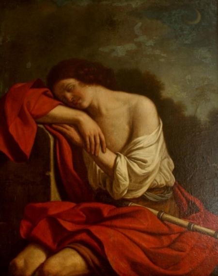 Плакат Спящий Эндимион. Джованни Франческо Барбьери