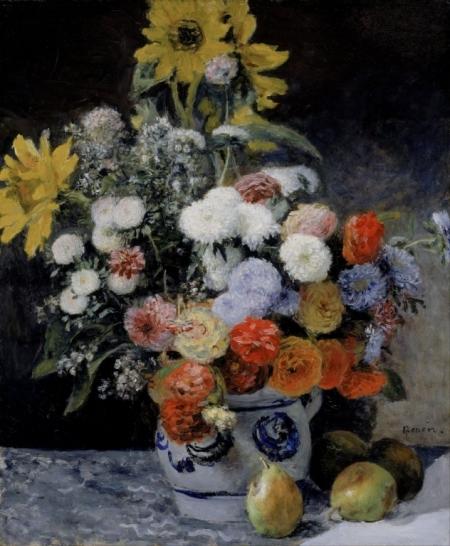Постер на подрамнике Цветочный натюрморт. Пьер Огюст Ренуар