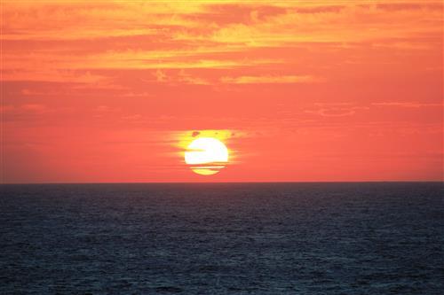 Постер на подрамнике Sunset In Indian Ocean - Закат в Индийском Океане