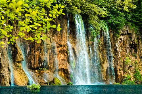 Постер на подрамнике водопад
