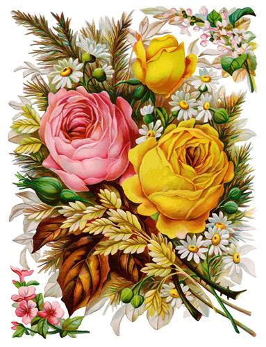 Постер на подрамнике Vintage flovers - Цветы