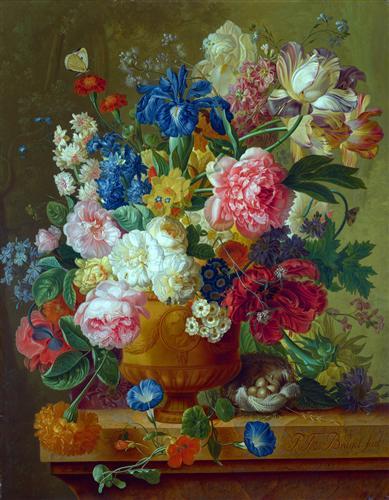Постер на подрамнике Цветы в вазе