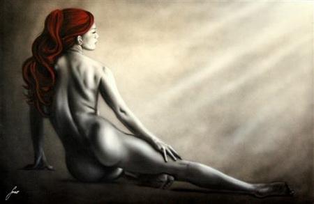 Постер (плакат) Red hair woman - девушка с красными волосами