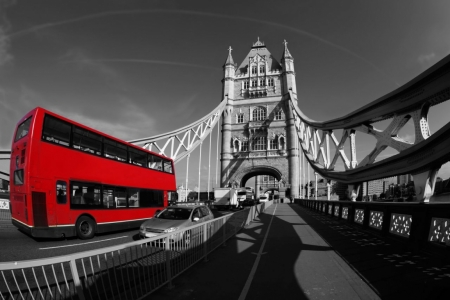 Постер (плакат) Красный автобус. Лондон
