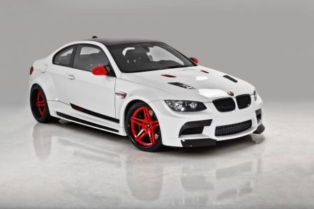 Постер на подрамнике BMW M3 (БМВ М3) белый