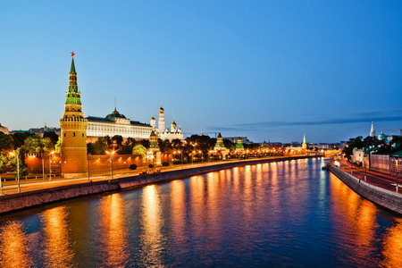 Постер на подрамнике Москва река и Кремль