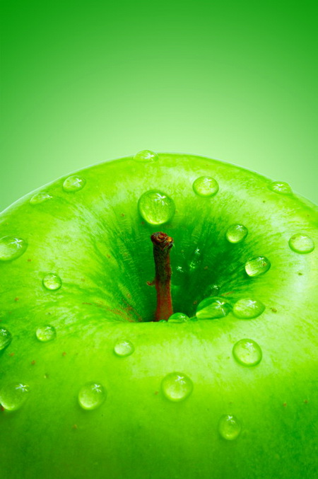 Плакат Зеленое яблоко