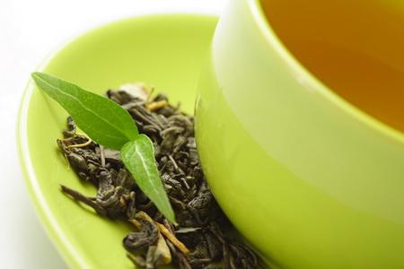 Постер на подрамнике Чашка зеленого чая