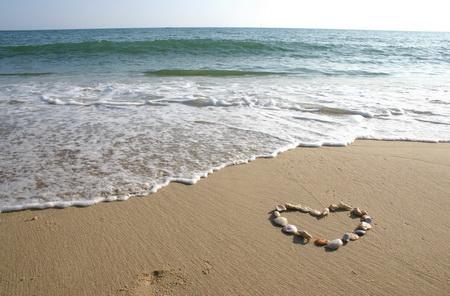 Постер на подрамнике Сердце на плаже
