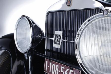 Плакат Ретро автомобиль решотка радиатора и фары