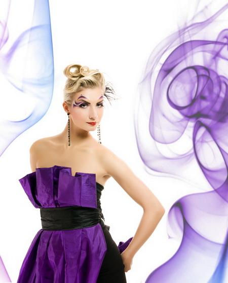 Плакат Фиолетовые разводы