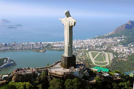 Постер на подрамнике Статуя Христа в Рио-де-Жанейро