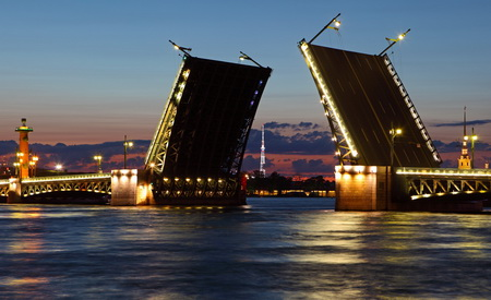Постер на подрамнике Разводной мост Санкт-Петербург