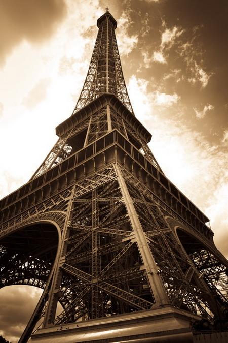 Постер на подрамнике Эйфелева Башня Париж