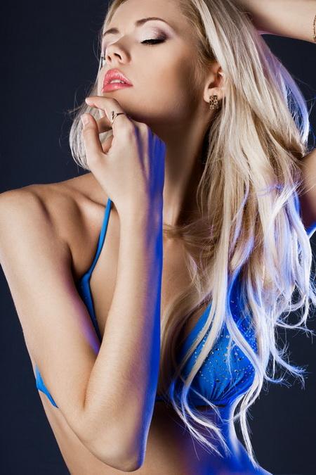 Плакат Блондинка