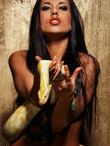 Постер на подрамнике Со змеей