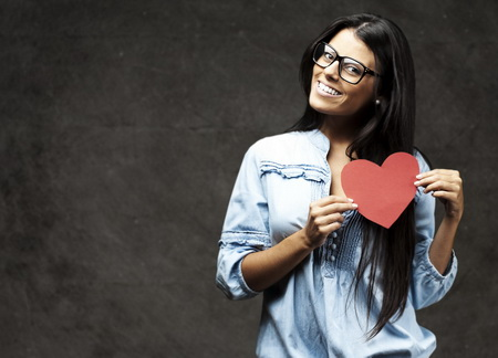 Плакат Картонное сердце