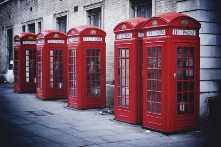 Плакат Красные телефонные будки