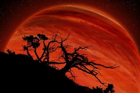 Постер на подрамнике Красная планета
