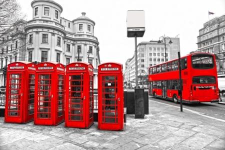 Постер (плакат) Телефонная будка. Лондон