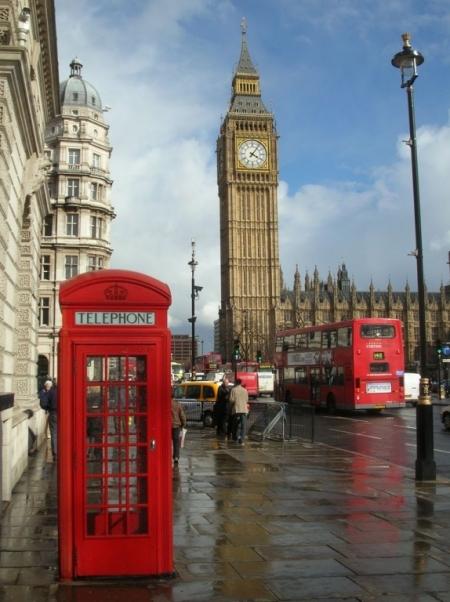 Постер на подрамнике Телефонная будка. Лондон
