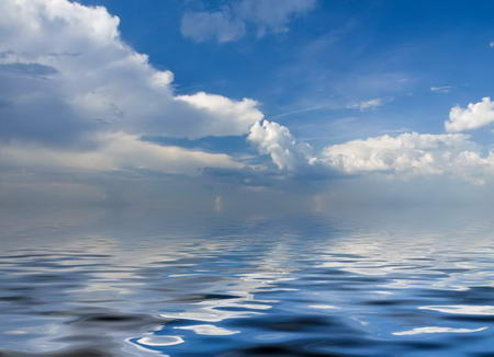 Постер на подрамнике Отражение неба в море
