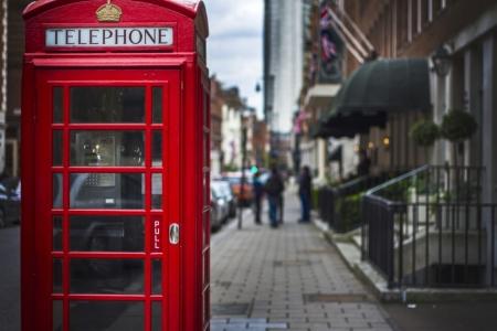 Постер (плакат) Красная телефонная будка. Лондон