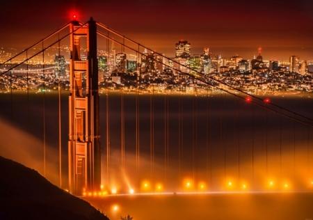Постер на подрамнике Мост Золотые Ворота. Сан Франциско