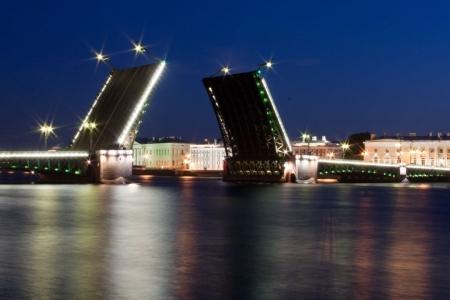 Постер (плакат) Разводные мосты Санкт-Петербурга