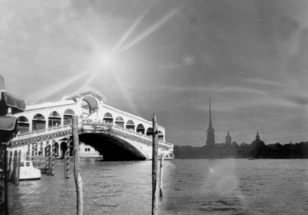 Постер на подрамнике Мост на реке Неве