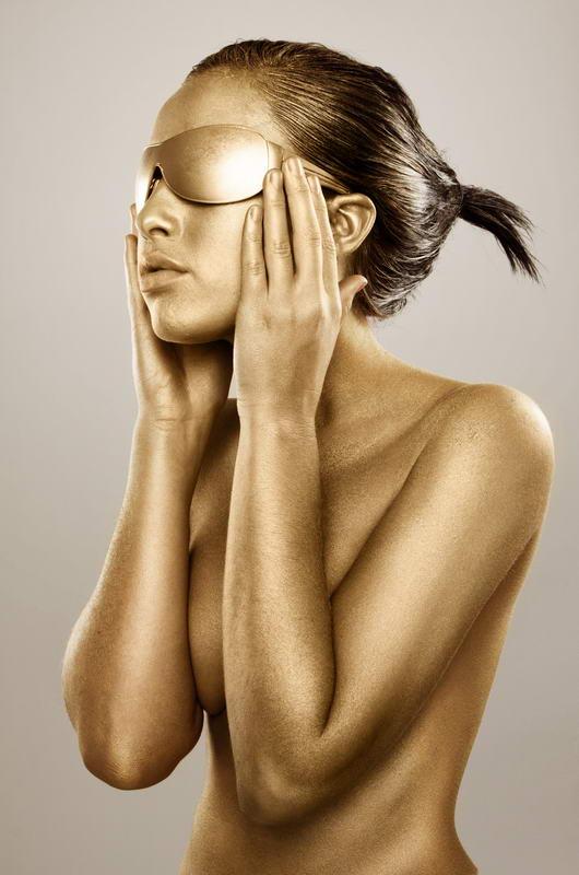 Постер (плакат) Золотые очки