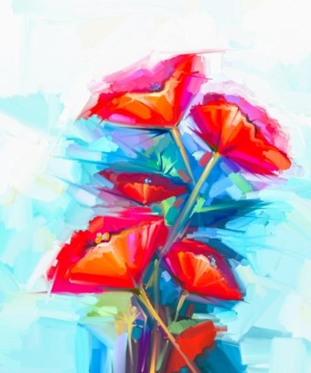 Картина Абстракция. Цветы