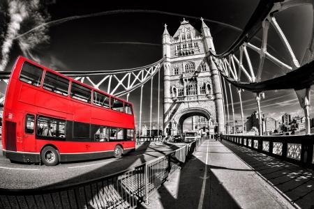 Постер (плакат) Красный автобус, Лондон.