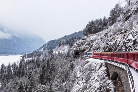 Постер на подрамнике Поезд зимой
